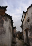 Old buiding in China. The street made from stone, in a old small village of China, with bulding traditional style Royalty Free Stock Photography