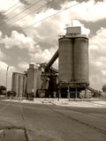 Old building. Old cement factory royalty free stock photos