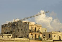 Old Building. Colonial old building with crane stock images
