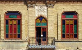 Old building. Front view of old building in Iran Stock Image