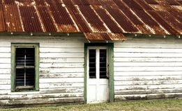 Old Building. Iwith a rusted tin roof n Breaux Bridge, Louisiana Royalty Free Stock Images