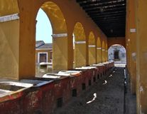 Old Building. Old colonial buidling located in Antigua Guatemala Royalty Free Stock Photos