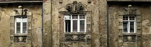 Old Building. An old building with ruined walls and windows royalty free stock photos
