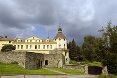 Old building. Historical Museum of Textiles and Bozena Nemcova, remnants of the old fort Stock Images