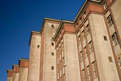 Old building. Building against blue sky Royalty Free Stock Image