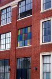 Old Building. With Colorful Windows royalty free stock image