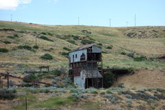 An old building at an abandoned gold mine Stock Images