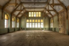 Old building in an abandoned hospital in Beelitz Stock Photography