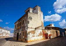 Old building in algarvian town Royalty Free Stock Photo