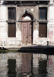 Old building along a canal in venice Royalty Free Stock Images