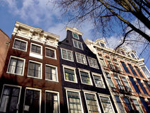 Old building in Amsterdam. Old typical houses or building in Amsterdam in Netherlands Stock Photos