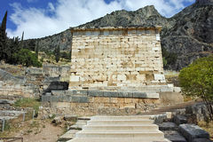Old Building of Ancient Greek archaeological site of Delphi, Greece Stock Photography