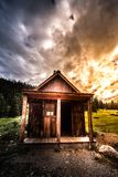 Old building Animas Forks royalty free stock photography