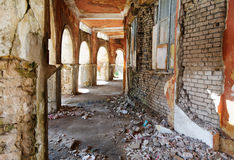 Old building with arches Royalty Free Stock Photos