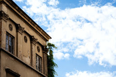 Old Building Architectural Detail Background - Europe Destinations. Concept Belgrade Stock Photography
