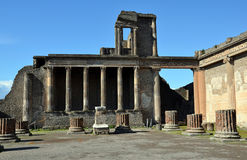 Old building architecture in the pompei city excavation italy Royalty Free Stock Images