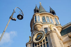 Old building in art nouveau style and vintage lantern,Batumi Stock Images