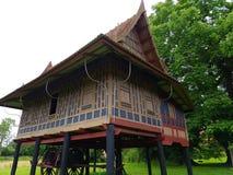 Old  building from asia. Seen in moesgaard garden Denmark Stock Photo