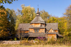 Old building. In the autumn forest Stock Images