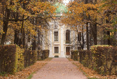 Old building in the autumn park Royalty Free Stock Photography
