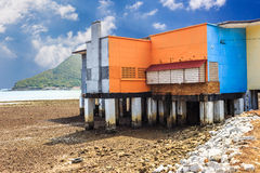 Old building by the beach Royalty Free Stock Images