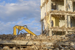 Old building is being demolished Stock Images