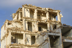 Old building is being demolished Royalty Free Stock Photos