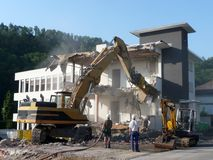 An old building is being torn down Royalty Free Stock Images