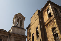 Old building and bell tower Royalty Free Stock Photography