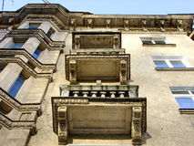 Old Building from below of Balcony Stock Image