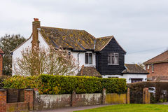 Old building with black facade in Somerset. This house looks like a house of mysteries Stock Photo