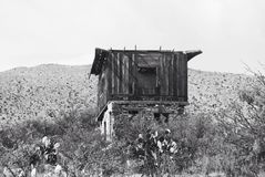 Old building. Black and white desert Stock Photo