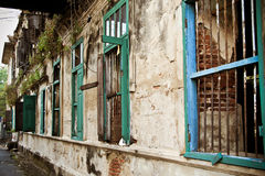 Old building with broken wall in Bangkok Stock Image