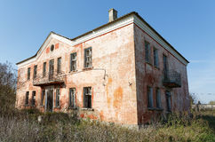 Old building with broken windows Royalty Free Stock Photography