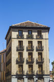 Old building at calle mayor Stock Photos