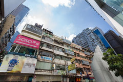 Old Building in Causeway Bay at daytime Stock Photos