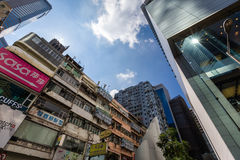 Old Building in Causeway Bay at daytime Royalty Free Stock Photography
