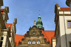 Old Building in Center of City Dresden, Germany Stock Images