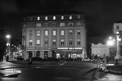 Old Building, city centre. Croatiafulloflife myproshot bnw zagreb croatia #whataboutcroatia explorer city night after rain architecture building culture center stock images