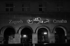 Old Building, city centre. Croatiafulloflife myproshot bnw zagreb croatia #whataboutcroatia explorer city night after rain architecture building culture center stock photos