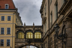 The old building of city Dresden, Germany Royalty Free Stock Photos