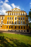 Old building in city Pecs of Hungary, High Scool Loewey Klara , Royalty Free Stock Photography