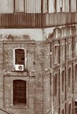 Old building construction. Image of an old building in the old part of the city of barcelona, spain Royalty Free Stock Image