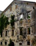 Old building, Corfu, Greece. Facade of decaying building in Corfu, Greece Stock Photos
