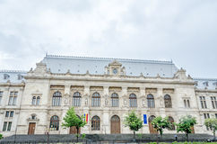 The old building, Courthouse of Bucharest. stock photos