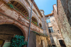 Old building courtyard in Montauban, France Stock Images
