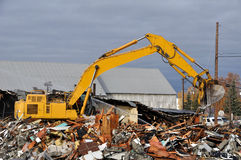 Old Building Demolition Stock Photo