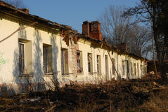 Old building for demolition Royalty Free Stock Image