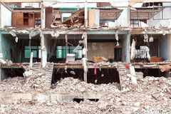 Old building destroyed demolition construction concrete architecture garbage abandoned Stock Photo