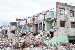 Old building destroyed demolition construction concrete architecture garbage abandoned Royalty Free Stock Photography